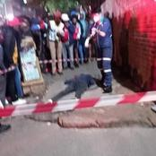 A horrific shooting occurred when a robber attempted to rob a taxi driver in Hillbrow