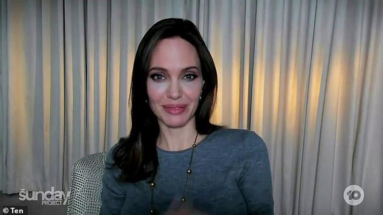Angelina Jolie, 45, shows off her ageless visage as she promotes her new film Those Who Wish Me Dead