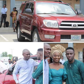 Photos:Popular Gospel Artist GUC Gifts Pastor a Toyota SUV After His Wedding Thanksgiving in Church