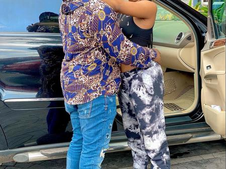 Nollywood Actress Amarachi Igidimbah all Loved up with her Husband(Photos).