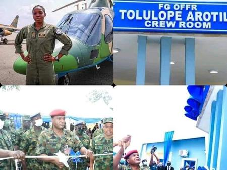 Air Force Names Crew Room After Tolulope Arotile