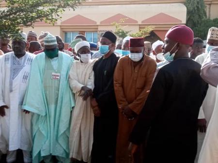 PhotoNews: Makarfi, Yero, Sen. Kwari All Present, as Ex Governor Balarabe Musa is Buried in Kaduna