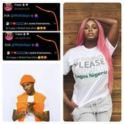 See the reply that DJ Cuppy gave to a man that asks when she could sing with Wizkid