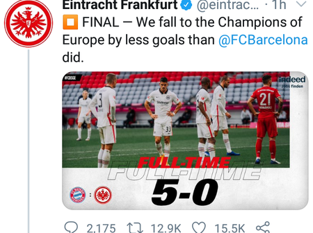 After Losing 5-0 to Bayern Munich, See What Frankfurt Posted that Got Barcelona Fans React