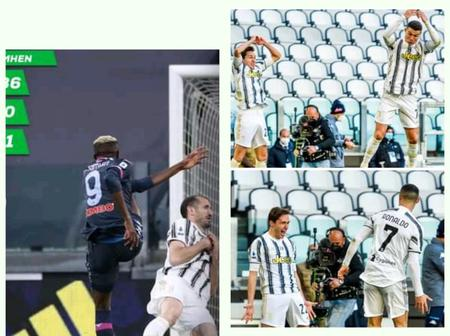 Forget Ronaldo's goal celebration against Napoli, see what Victor did that got football fans talking