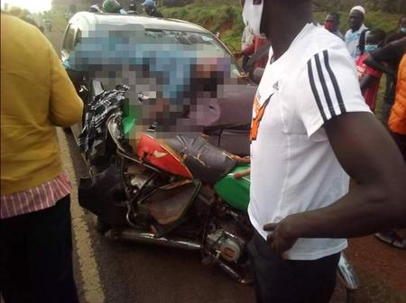 RIP! One Person Dead After A Private Car Knocked Down A Motorbike
