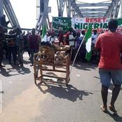 Onitsha Head Bridge Has Been Blocked With A Diety Called Amadioha:(See Photos)
