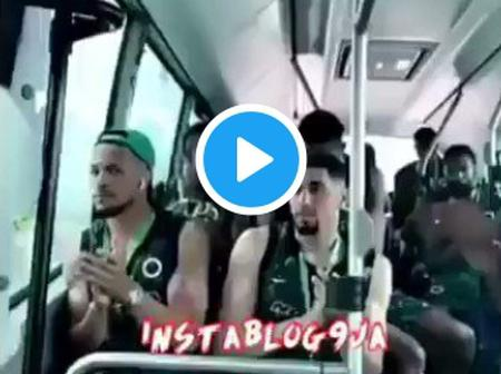 Super Eagles: Ahmed Musa leading Praise & worship song on their way to the stadium (Watch video)