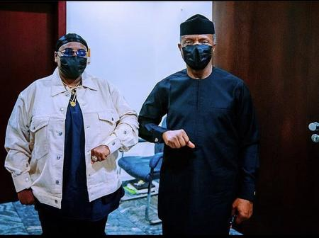 Mixed Reactions From Nigerians After Teni Paid Yemi Osinbajo A Visit (Photos)