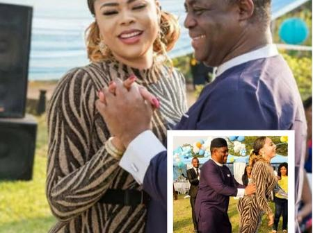 Loved Up Photos Of FFK & Precious Chikwendu  When They Still Saw Sparkles In Each Other's Eyes