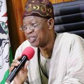 Security Of The Country Is Much Better Now Than 2015- Lai Mohammed