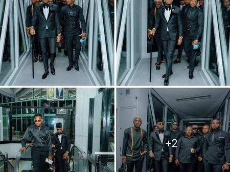 (PHOTOS) Glamorous Photos Of Diamond Platinumz Leading The Wasafi Crew To The Burial Of Magufuli
