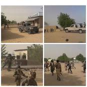 Check Out How Boko Haram Terrorists Were Moving Around Freely In A Borno Community (See Photos)