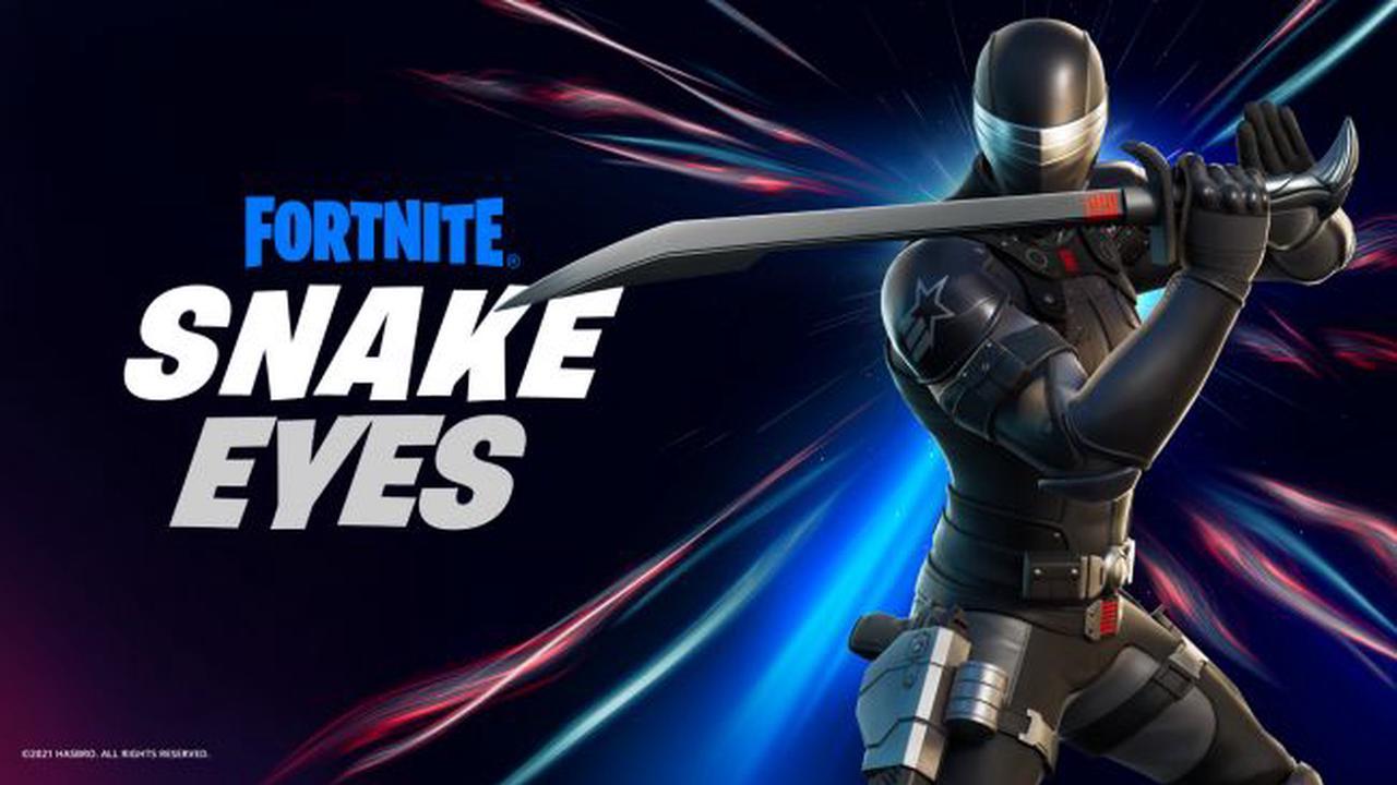 Snake Eyes de G.I. Joe rejoint Fortnite