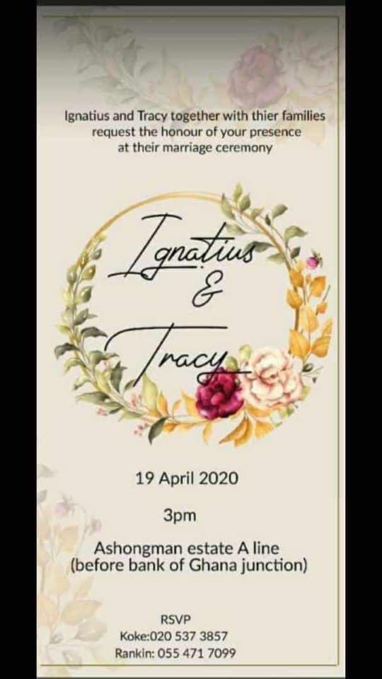 Wedding invitation of legendary 'Date Rush' heart breaker Ignatius ...
