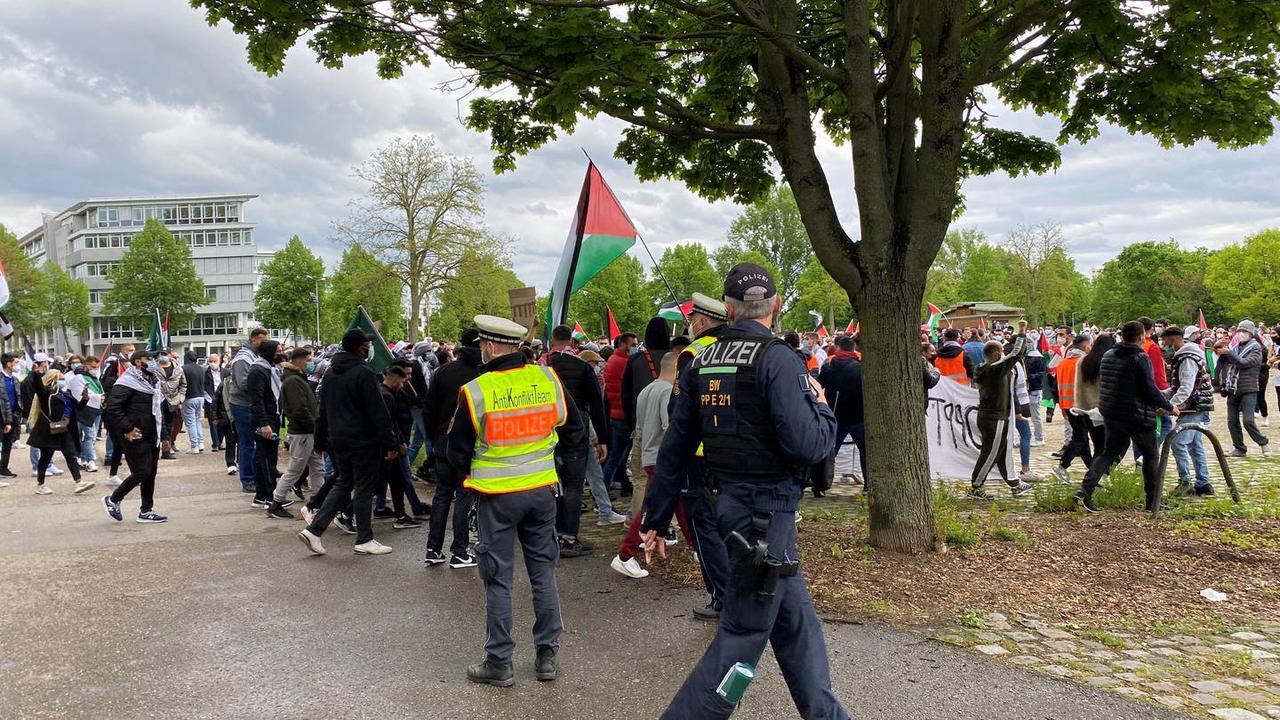 Tatverdächtige nach Pro-Palästina-Demo in Mannheim ermittelt