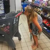 Lady Uses Her Underwear As Face-Mask In A South African Supermarket