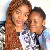Check out reactions after Uche Ogbodo was seen with her look alike daughter in a new photo.