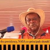 Raila Did Not Win The Presidency, NASA Co-principals Should Know This : Oburu Odinga