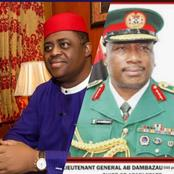 Hours After Gen. Dambazzau Said That IPOB Is Similar To Boko Haram, Read What FFK Just Said
