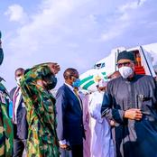 Check Out Photos As President Buhari Returns From Britain After Two Weeks Medical Check-up(Photos)