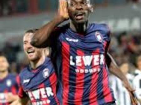 Nwankwo Nets 3rd Of Season For Crotone In 2-1 Home Loss To Atalanta