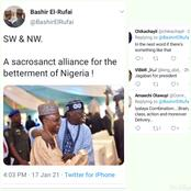See the reactions to a photo of Tinubu and el-Rufai that was posted by Bashir el-Rufai on Twitter.