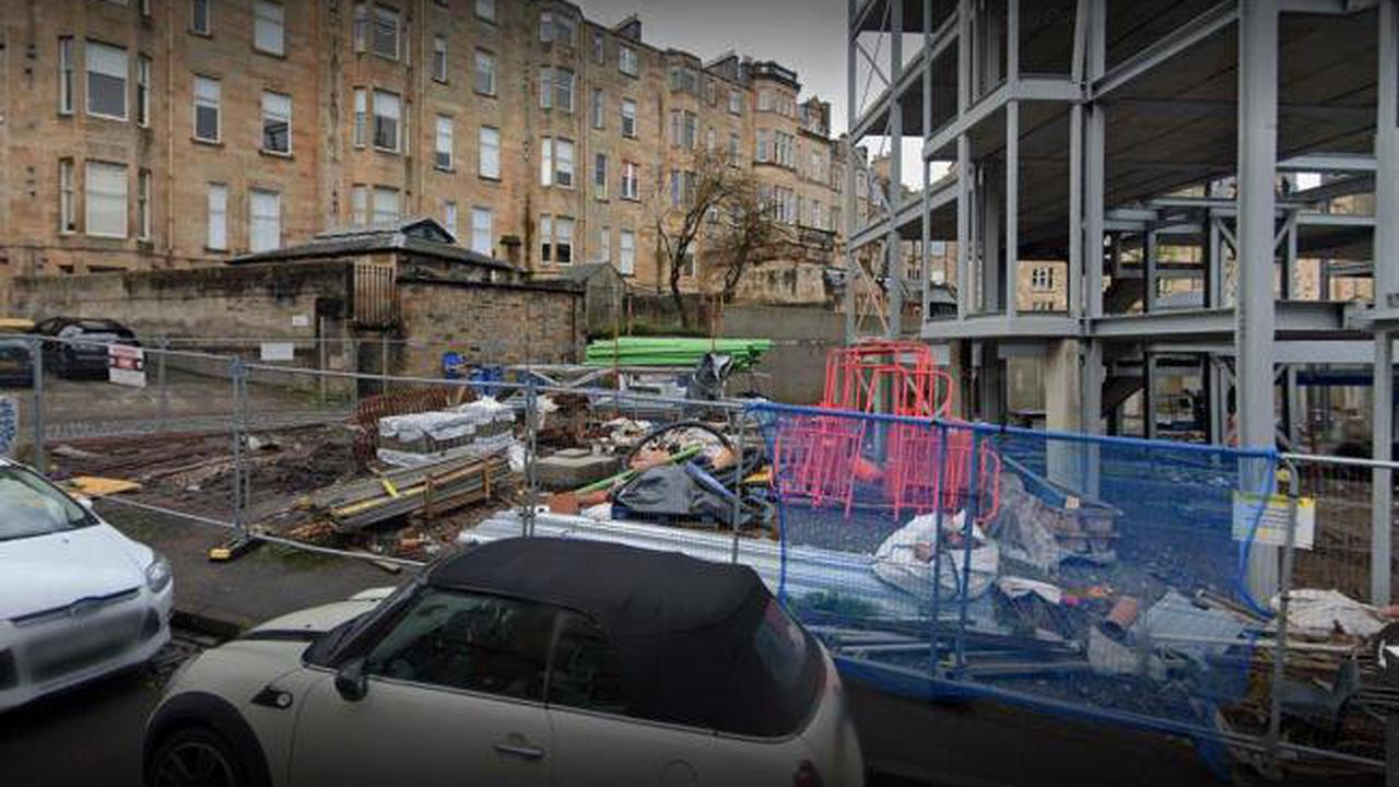 Road closed after high winds cause scaffolding collapse at luxury flat development