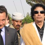 Flashback:. Muammar Gaddafi funded former French President, Nicholas Sarkozy's presidential campaign