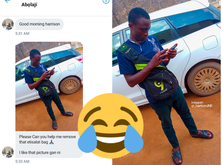 Man Asked An Artist To Help Him Remove An Etisalat Bag In A Picture But See What He Got In Return