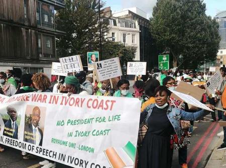 Opposition au 3ème mandat de Ouattara : la diaspora ivoirienne du Royaume-Uni dans les rues à Londres