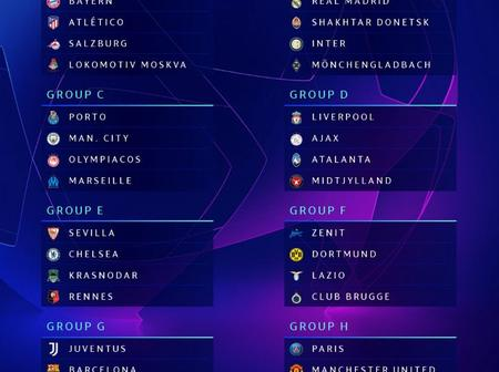 BREAKING NEWS: UEFA release Champions league draw of the season. Manchester United in a tough group