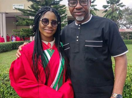Veteran Nigerian singer, Sunny Neji celebrates his pretty daughter as she graduates from university