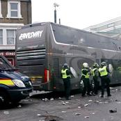 Liverpool Fans Destroy Real Madrid Bus Outside Anfield