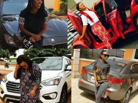 Meet the 13 Ghanaian female celebrities with the most expensive cars in Ghana (photos)