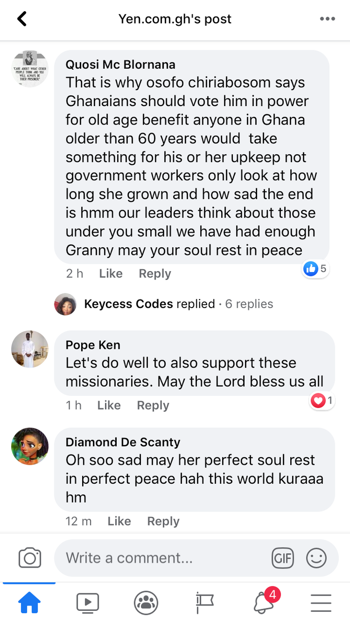 bfc9948b7d7dfe16d6f48f1195d693ae?quality=uhq&resize=720 - Ghanaians React After 130-year-old Ghanaian Woman Dies Chasing Her 34 Cedis That Was Owed Her