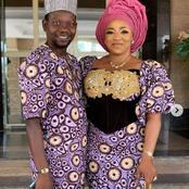 Yoruba veteran actor, Afeez Owo celebrates his wife, Mide Martin's birthday