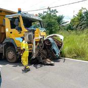 Dimbokro: un violent accident entre un camion et un