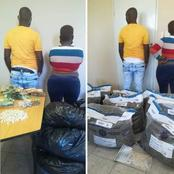 SA Couple Arrested In Possession Of 21kgs Of Dagga In Their Shack.