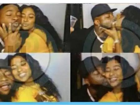 Reactions spark as pictures of Davido seen kissing American model surfaced online