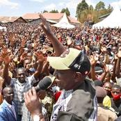 Ruto Still Strong After Recieving A Warm Welcome By Masses In Tranzoia County (VIDEO)