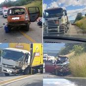 Serious vehicle accident on the N1 at Yesterberg. 2 People died on scene and another 3 injured.