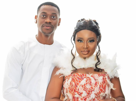 See Romantic Valentine Pictures of Nollywood Stars, Lateef Adedimeji and Bimpe Oyebade