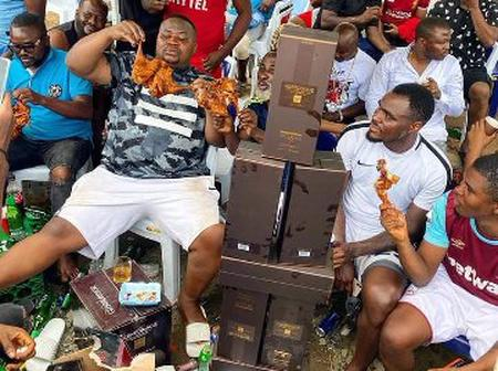 See What Cubana Chief Priest And Emenike Were Doing Together