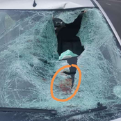 Pedestrian knocked while running across the road at R102. Mzansi left in pain. Photos|Opinions.