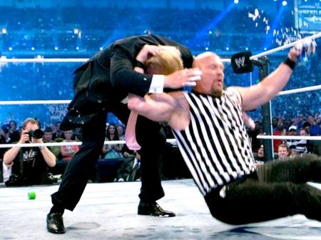 Remember the moment Donald Trump and Stone code fought inside the WWE ring. (See photos)