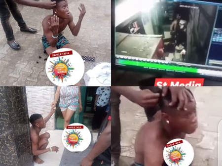 The Young Man That Was Caught Stealing In A Hotel, See What They Did To Him As Punishment