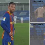 See How Fans Trolled Messi Shivering On A Wet Day