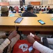 See what these University students were doing while the lecturer was teaching.