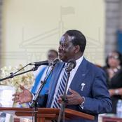 Raila Badly Embarrassed at Church After His Mic Was Switched Off (VIDEO)